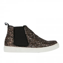 BROWN SLIP ON WITH GLITTER