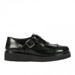 GREEN LOAFER WITH FRINGES