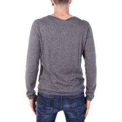 GREY SWEATER WITH BREAST POCKET