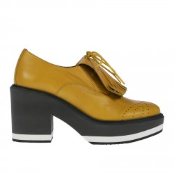 MISSOURI YELLOW LACE UP SHOE WITH HEEL