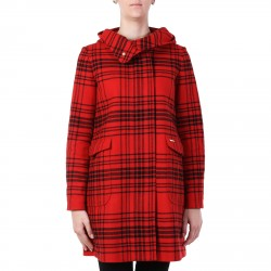 BLACK AND RED SCOTTISH SKIRT WITH HOOD