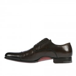 DARK BROWN LEATHER  WORN EFECT LACE UP SHOE