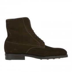 BROWN SUEDE LOW BOOT
