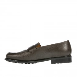 BROWN LEATHER LOAFER