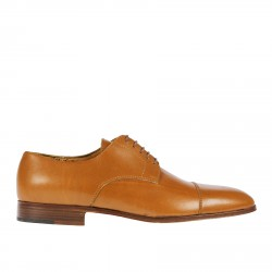 MUSTARD LEATHER LACE UP SHOE