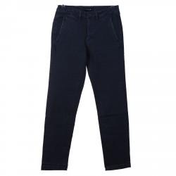 DARK BLUE COTTONED PANTS