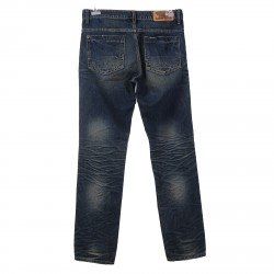 BLUE WASH JEANS WITH RIPPED