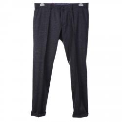GREY PATTERNED SLIM FIT PANTS