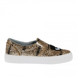 GOLD GLITTER SLIP ON