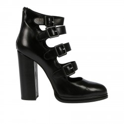 BLACK ANKLE BOOT WITH BUCKLES