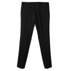 MICRO PATTERNED BLACK PANTS