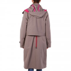 GREY TRENCH WITH INNER PADDED JACKET REMOVABLE NOTICE MODEL