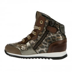 ANIMALIER SNEAKER WITH GLITTER