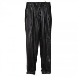 BLACK LARGE ECOLEATHER PANTS