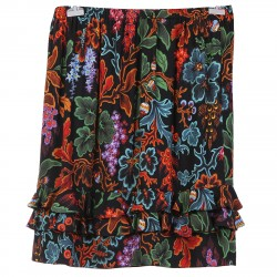 BLACK SKIRT WITH FLOWERS FANTASY
