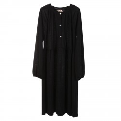 BLACK DRESS WITH LONG SLEEVES