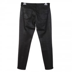 BLACK JEANS WITH GLOSSY EFFECT