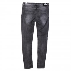 BLACK WASHED JEANS WITH RIPPED