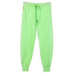 FLUO GREEN TRACKSUIT PANTS