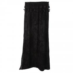 BLACK LONG SHIRT WITH VELVET FANTASY