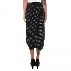 WHITE AND BLACK STRIPED DRESS WITH POLKA DOT