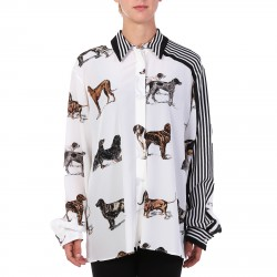 WHITE SHIRT WITH DOGS PRINTED