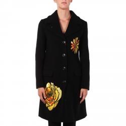 BLACK COAT FLOWER PATCH
