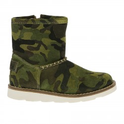 GREEN CAMOUFLAGE LOW BOOT