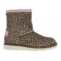 PINK LEOPARD LOW BOOT