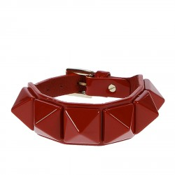 RED BRACIALET WITH RED STUDS