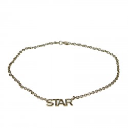 GOLD NECKLACE WITH WRITE STAR