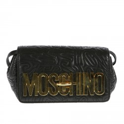 BLACK POCHETTE WITH FRONT BRAND NAME