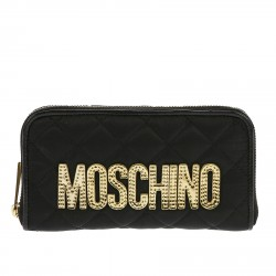 BLACK QUILTED WALLET