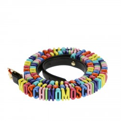 MULTICOLOR BELT WITH BRAND NAME