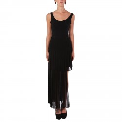 BLACK SKIRT WITH LONG TRANSPARENT COVER