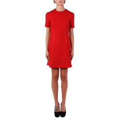 RED SHORT SLEEVE DRESS