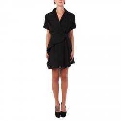 DRAPED BLACK DRESS
