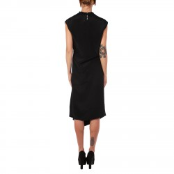 BLACK SLEEVLESS DRESS WITH DETAILS IN STRASS
