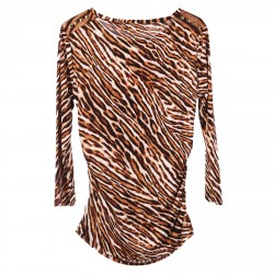ANIMALIER SWEATER WITH STUDS DETAIL
