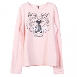 PINK T SHIRT WITH TIGER PRINT