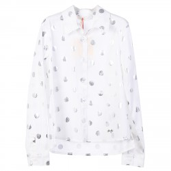 WHITE SHIRT WITH SILVER POIS