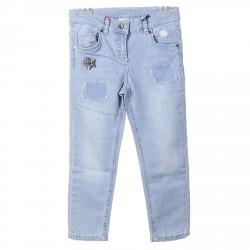 LIGHT BLUE JEANS WITH PACH