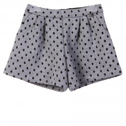GREY SHORT  WITH POIS