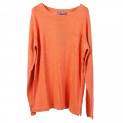 SALMON COLOR SWEATER WITH POCKET