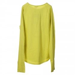 YELLOW LIGHT SWEATER WITH PRINTED FRONT