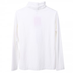 WHITE SWEATER WITH TURLENECK