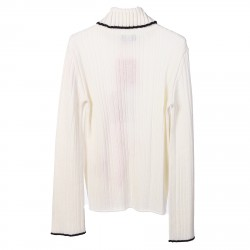 PULLOVER BIANCO A COSTE