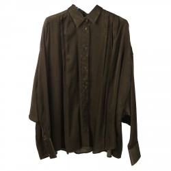 MILITARY GREEN COTTONED SHIRT