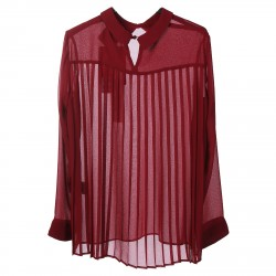 BORDERAUX BLOUSE WITH CLASSIC NECK