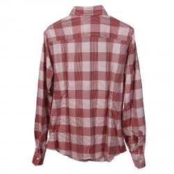 WHITE AND RED CHECKED SHIRT